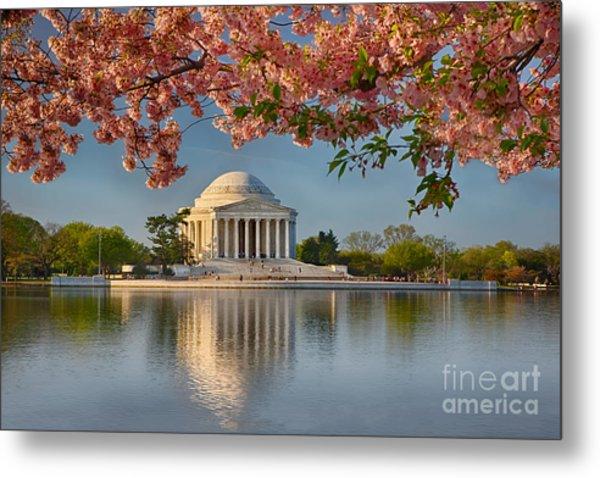 Jefferson Memorial In Spring Metal Print