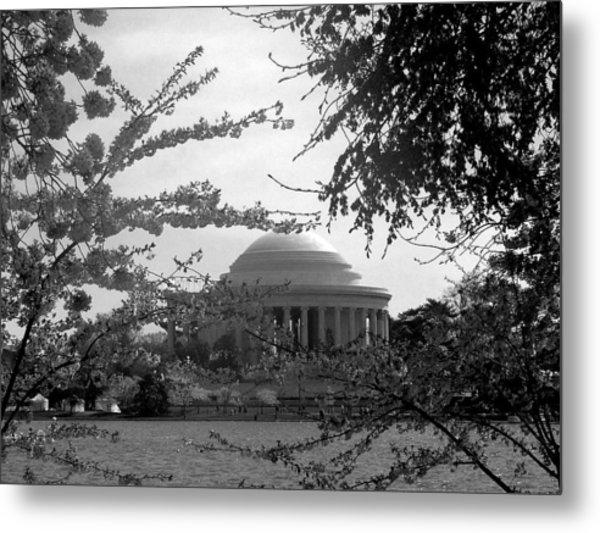 Jefferson Memorial Metal Print by Kimber  Butler