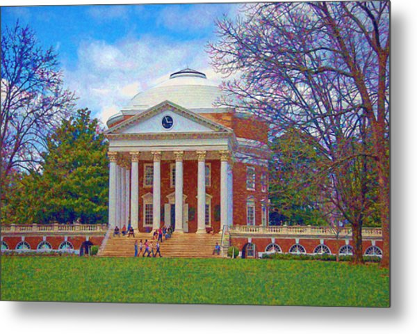 Jefferson's Rotunda At Uva Metal Print