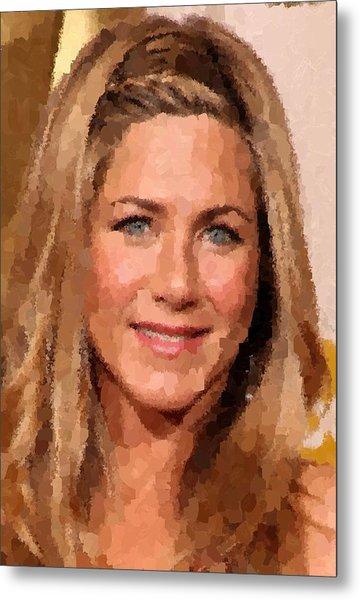 Jennifer Aniston Portrait Metal Print