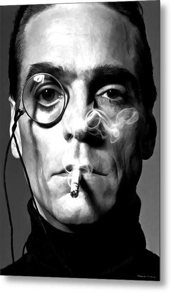 Jeremy Irons Portrait Metal Print