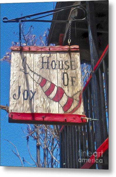 Jerome Arizona - House Of  Joy - Whorehouse Sign Metal Print