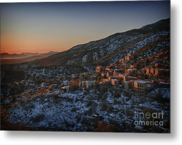Jerome Sunrise From Sunshine Hill Metal Print