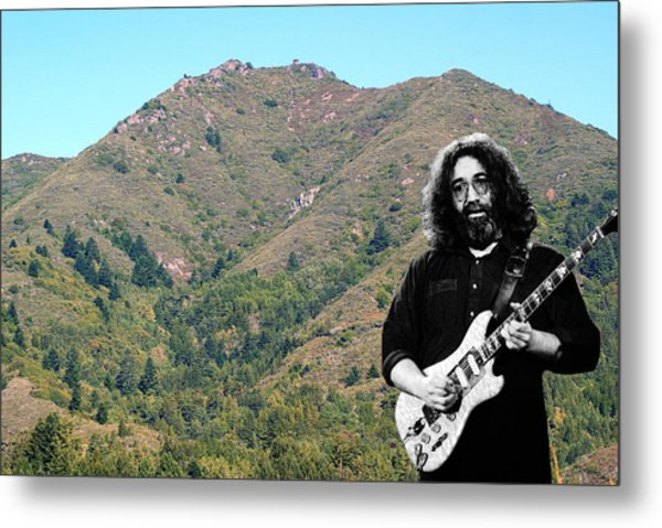 Jerry Garcia And Mount Tamalpais Metal Print