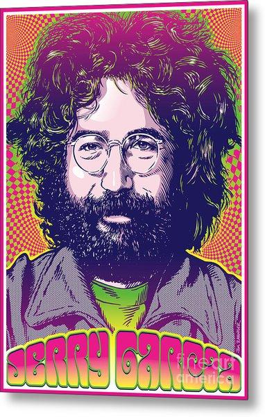 Jerry Garcia Pop Art Metal Print