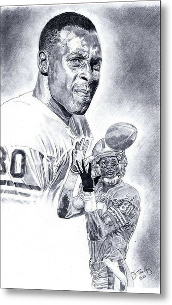 Jerry Rice Metal Print by Jonathan Tooley