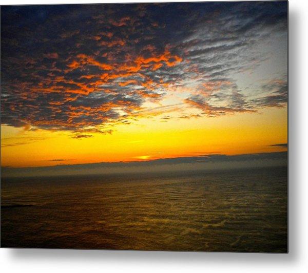 Jersey Morning Sky Metal Print