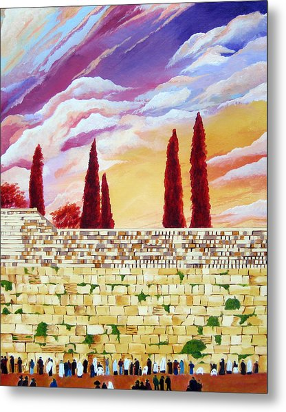 Jerusalem Prayers Metal Print