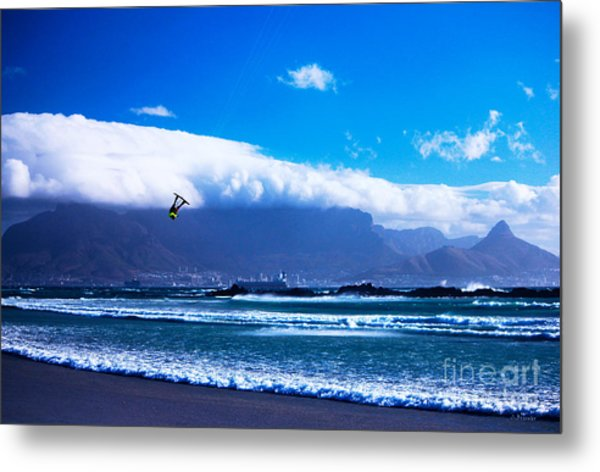 Jesse - Redbull King Of The Air Cape Town - Table Mountain  Metal Print by Charl Bruwer