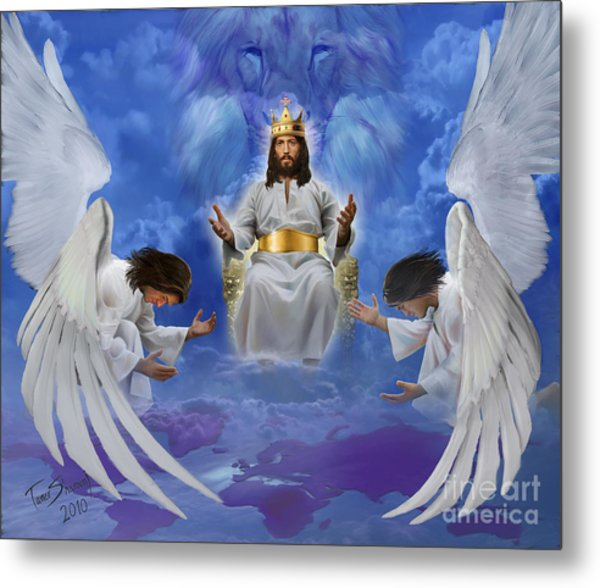 Jesus Enthroned Metal Print