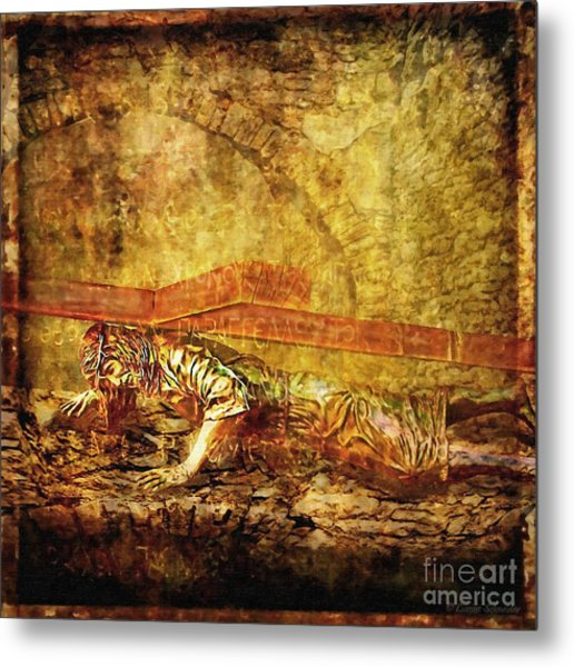 Jesus Falls Third Time Via Dolorosa 9 Metal Print