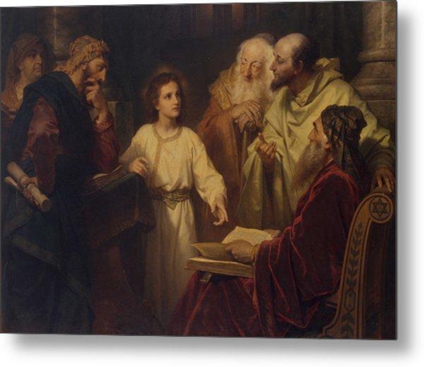 Jesus In The Temple Metal Print