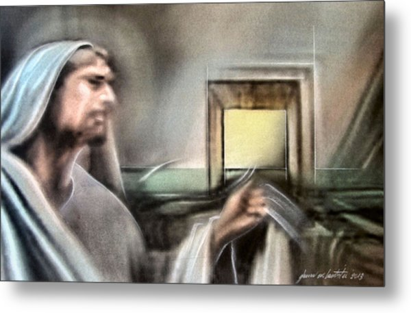 Jesus - Knocking 2013 Metal Print