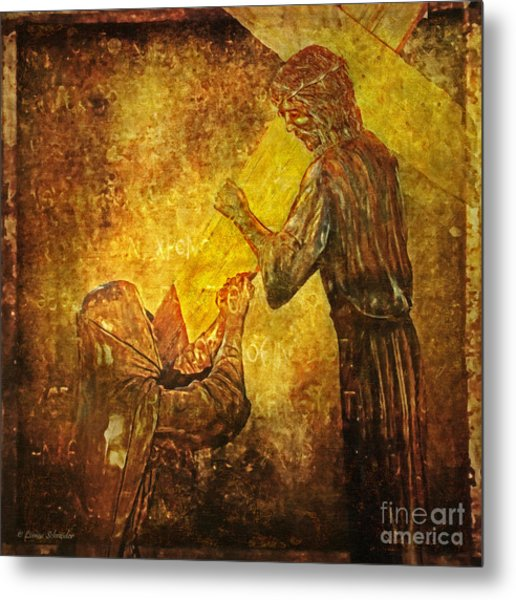 Jesus Meets His Mother Via Dolorosa 4  Metal Print