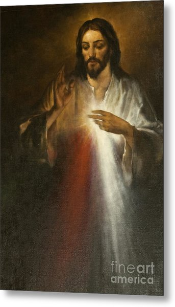 Jesus Of Divine Mercy Metal Print