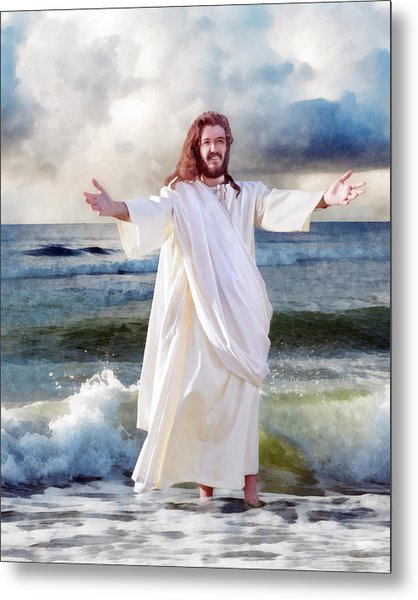 Jesus On The Sea Metal Print
