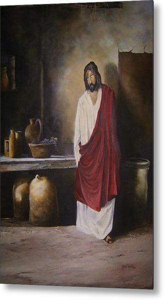 Jesus- The First Miracle- Metal Print by James Neeley