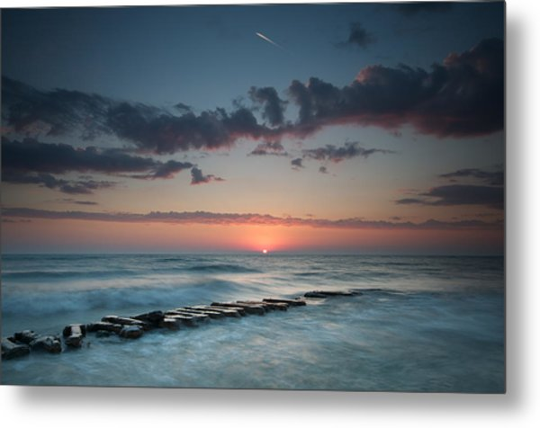 Jetty And The Sun Metal Print