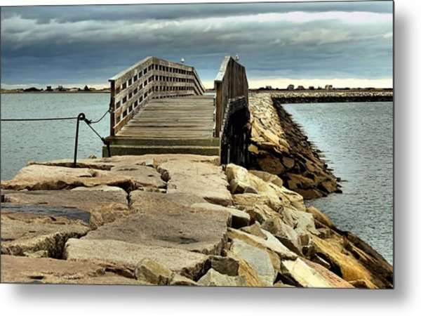 Jetty Bridge Metal Print