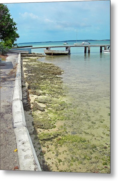 Jetty Old Boats Metal Print by Sarah-jane Laubscher
