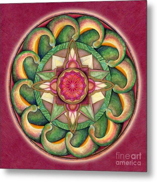 Jewel Of The Heart Mandala Metal Print