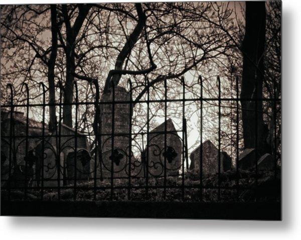 Jewish Cemetery Prague Metal Print