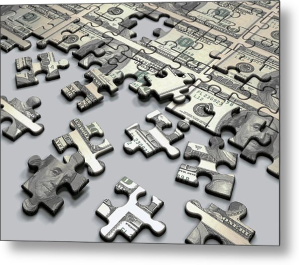 Jigsaw Puzzle Metal Print by Ktsdesign/science Photo Library