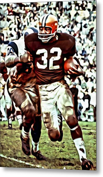 Jim Brown Metal Print