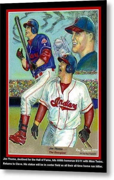 Jim Thome Cleveland Indians Metal Print