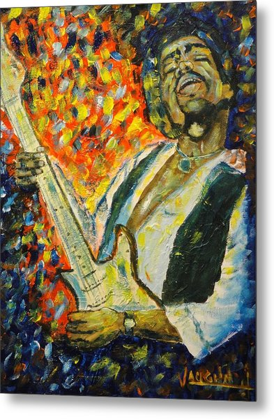 Jimi Metal Print by Charles Vaughn