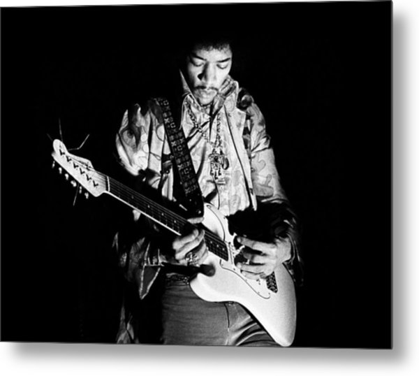 Jimi Hendrix Live 1967 Metal Print