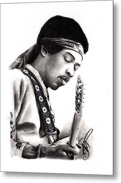 Jimi Hendrix Metal Print by Rosalinda Markle