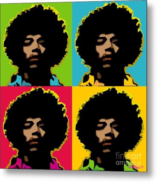 Jimi Hendrix 4-up Metal Print