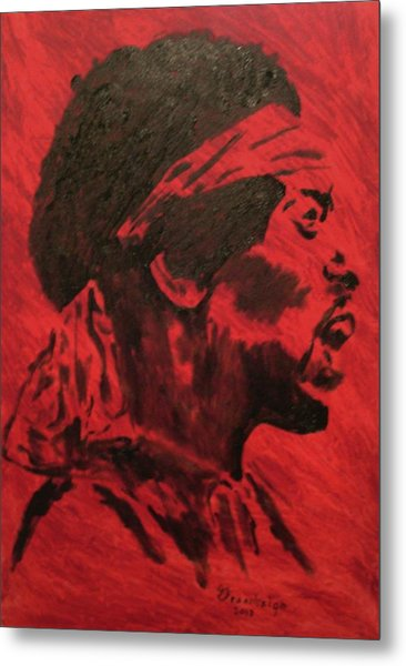 Jimi Metal Print by Mark Greenhalgh