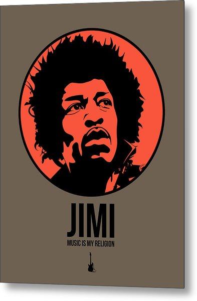 Jimi Poster 1 Metal Print