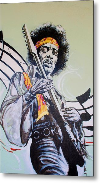 Metal Print featuring the photograph Jimi by Rob Hans