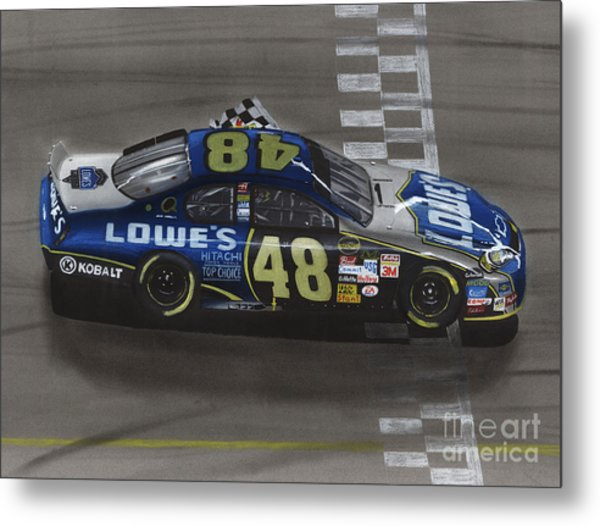 Jimmie Johnson Wins Metal Print