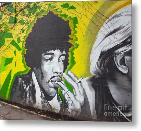 Jimmy Hendrix Mural Metal Print