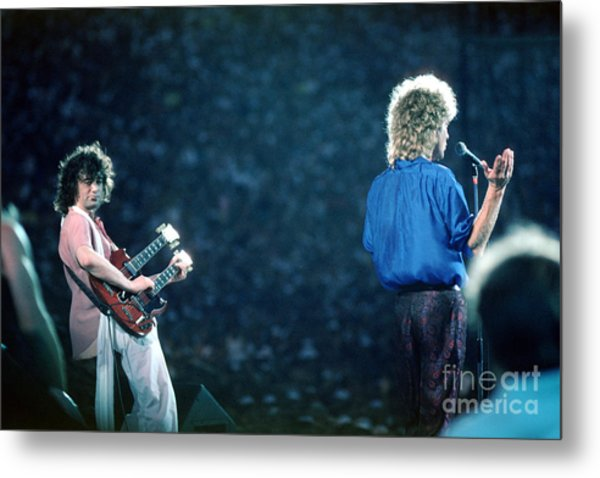 Jimmy Page And Robert Plant Metal Print