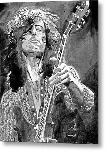 Jimmy Page Mono Metal Print