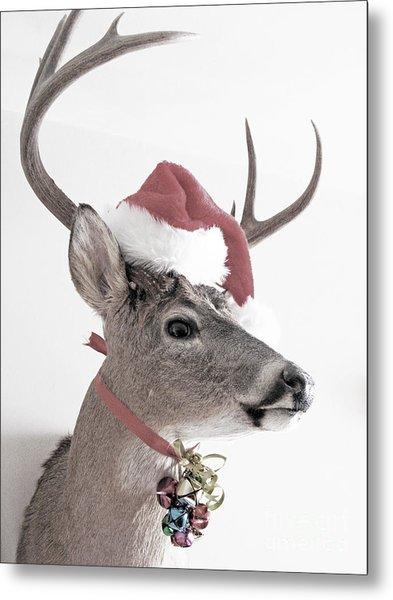 Jingle Deer Metal Print