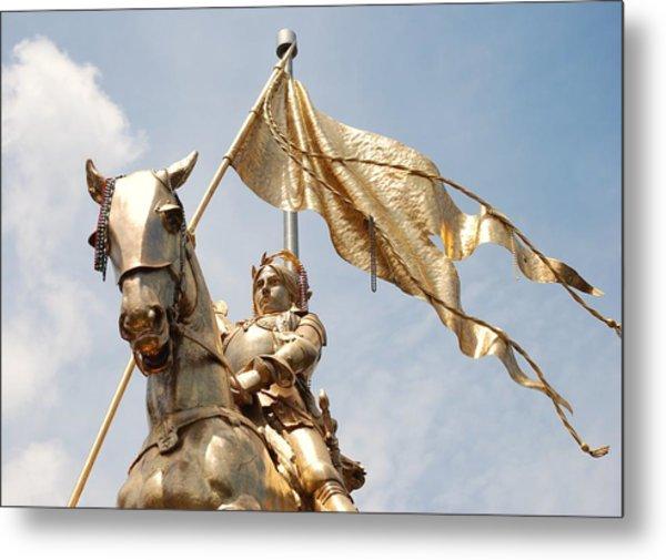 Joan Of Arc Metal Print by Pamela Schreckengost
