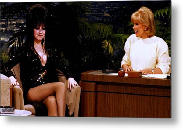 Joan Rivers And Elvira Metal Print