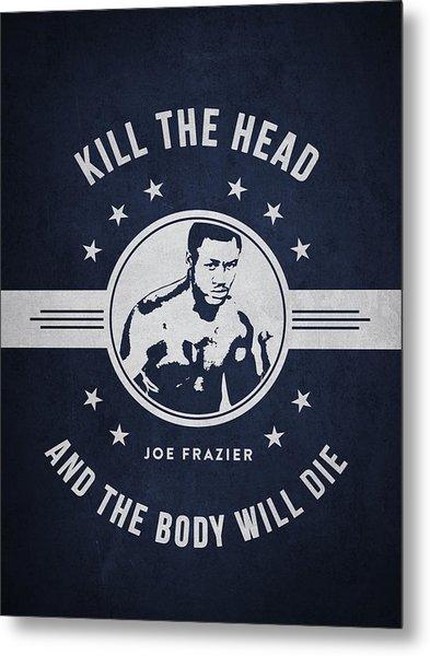 Joe Frazier - Navy Blue Metal Print