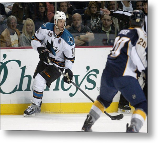Joe Thornton Metal Print