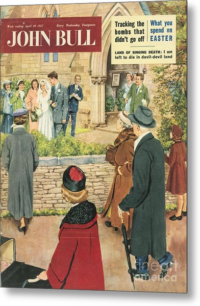 John Bull 1950s Uk Love Marriages Metal Print by The Advertising Archives
