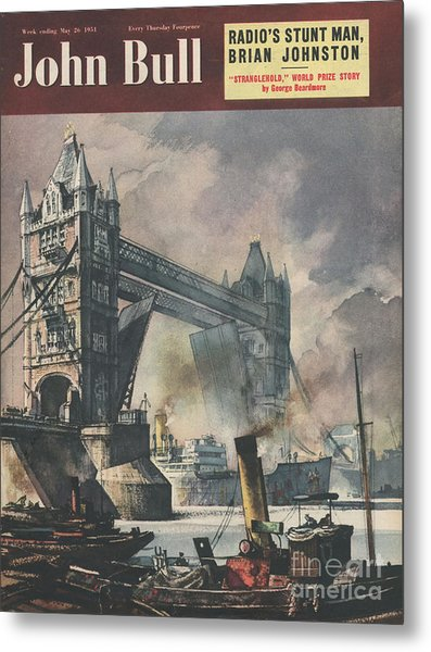 John Bull 1951 1950s Uk Tower Bridge Metal Print by The Advertising Archives