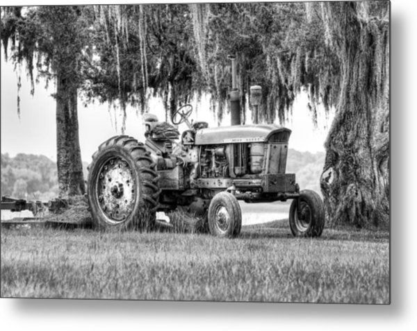 John Deer Tractor Under The Old Cedar Metal Print
