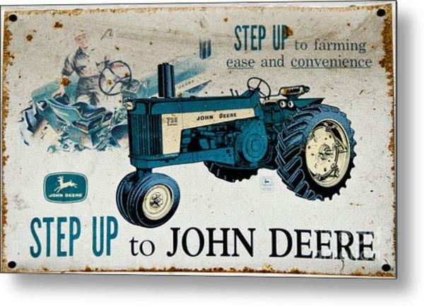 John Deere Tractor Sign Metal Print