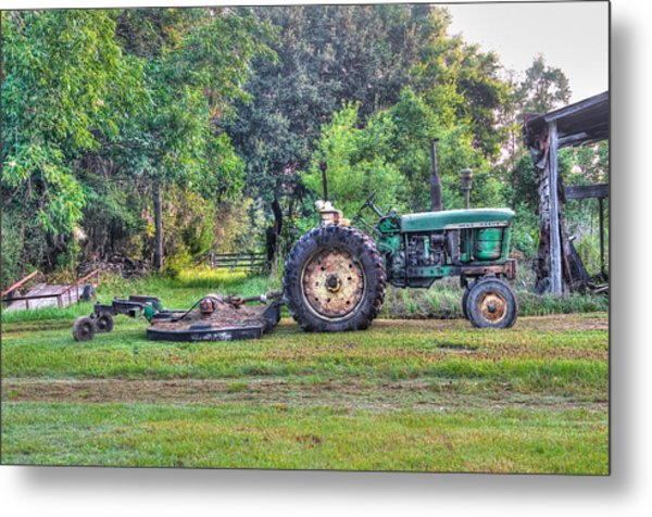 John Deere - Work Day Metal Print